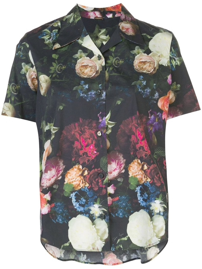 Adam Lippes Floral Trapeze Button Down Shirt Sale Tops
