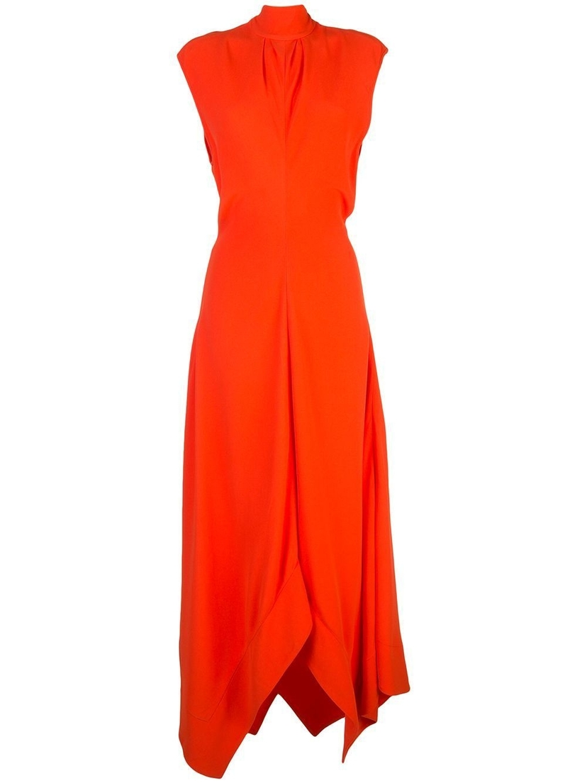 Proenza Schouler Mock Neck Asymmetric Maxi Dress Dresses Sale