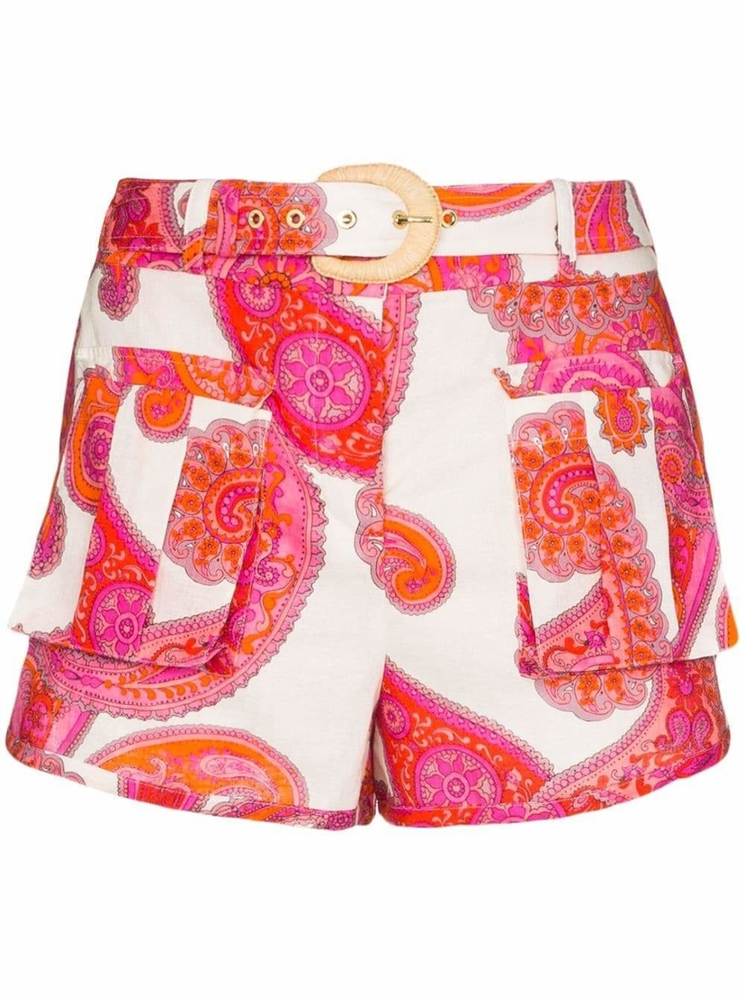 Zimmermann Peggy Paisley Mini Shorts Shorts
