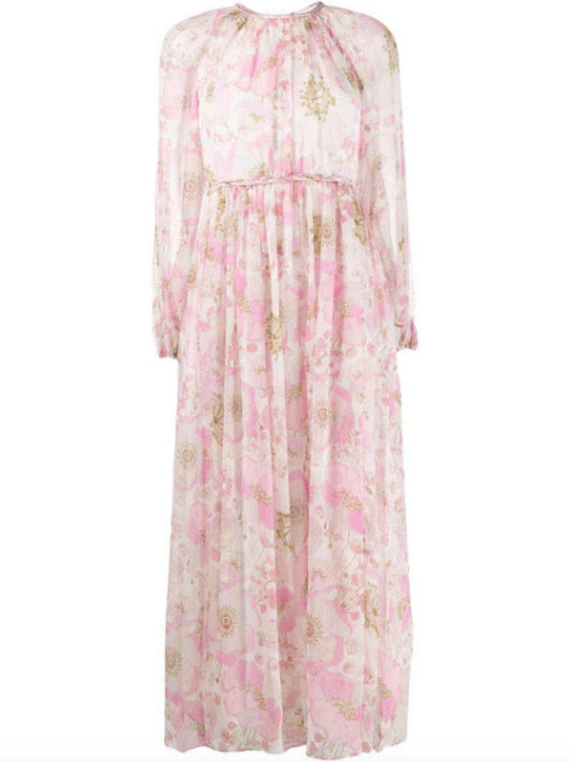 Zimmermann Super Eight Braid Midi Dress - Pink Poppy Dresses Sale