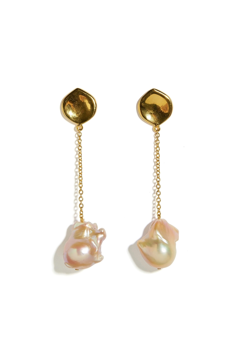 Lizzie Fortunato Lotus Drop Earrings Jewelry