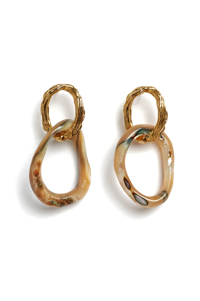 Lizzie Fortunato Loto Earrings Jewelry