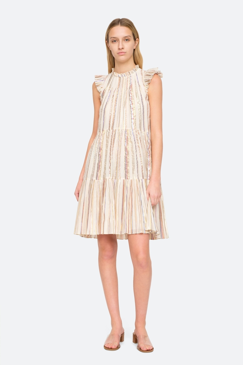 Sea Harriett Dress - Lurex Stripe Dresses Sale