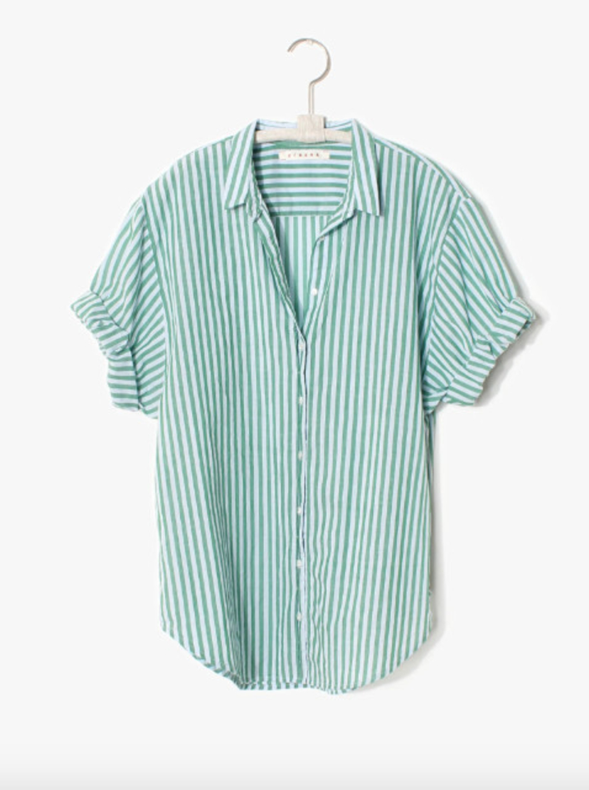 Xírena Channing Striped Button Down Shirt - Clearwater Sale Tops