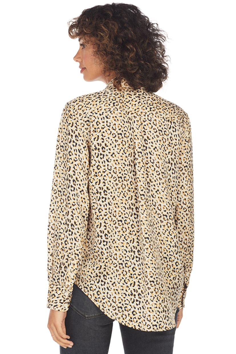 Current/Elliott The Derby Shirt (Gold Leopard) Sale Tops