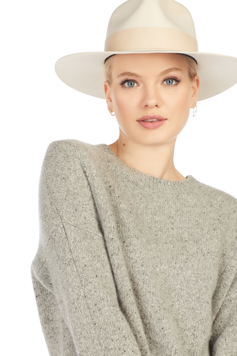 Vince Double Seam Cashmere Pullover (Grey) Tops