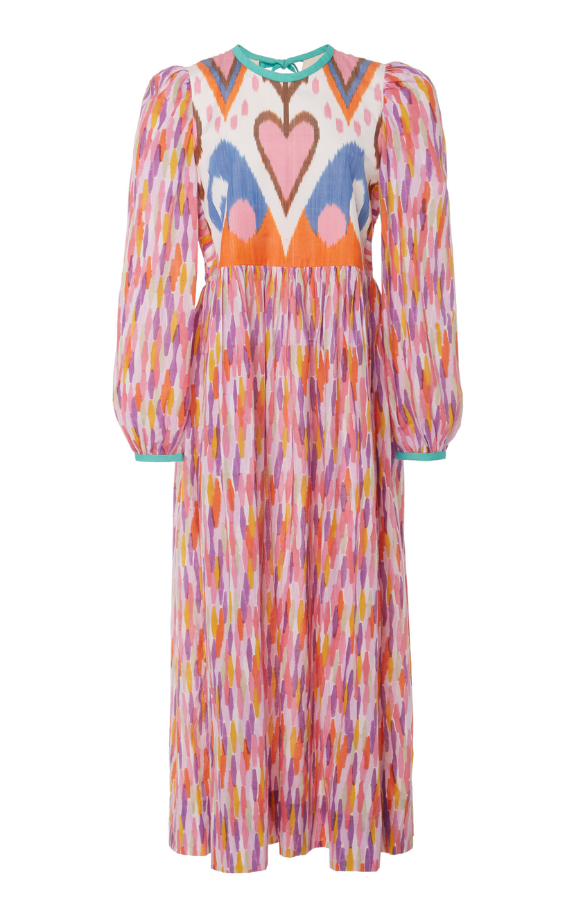 Alix of Bohemia Tallulah Printed Cotton And Silk-Blend Dress - Rainbow Ikat Dresses Sale
