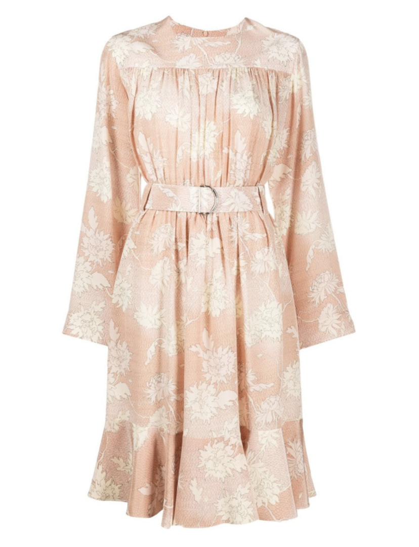 Chloé Belted Floral Dress Dresses Sale