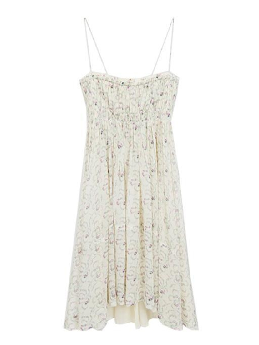 Chloé Floral Silk Gathered Dress Dresses Sale