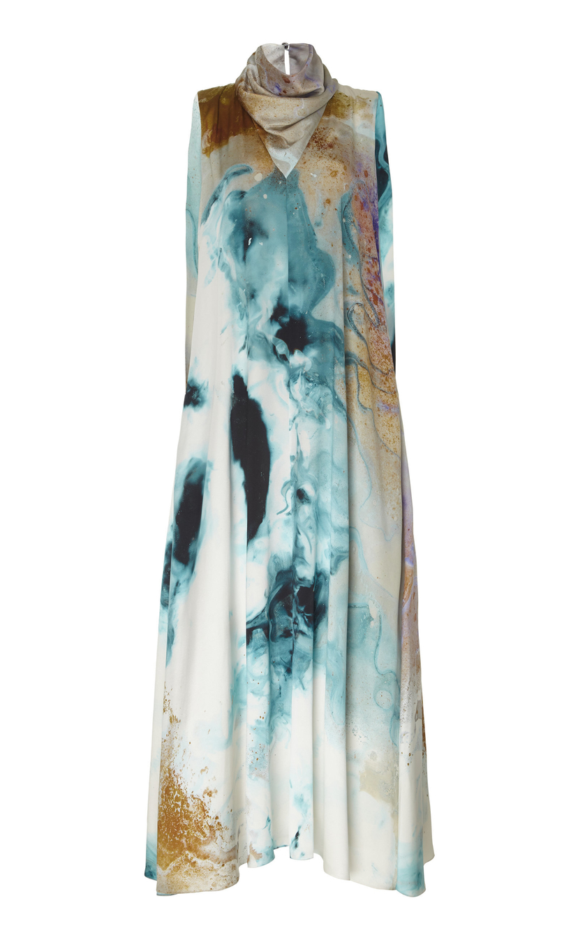 Roksanda Satin Printed Dress Dresses Sale