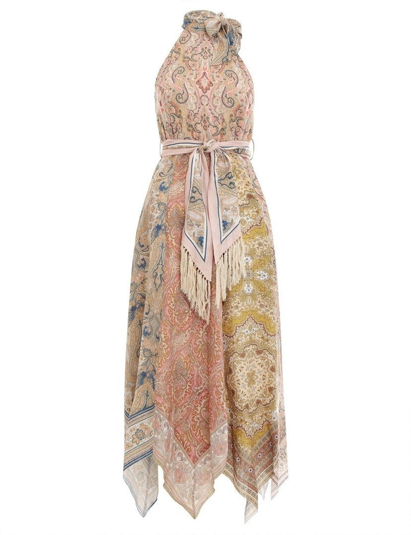 Zimmermann Zimmermann Freja Scarf Hem Long Dress Dresses Sale