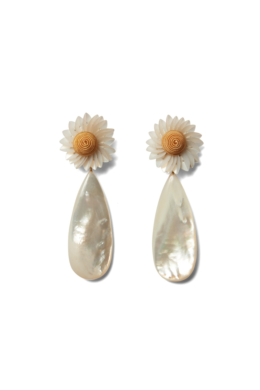 Lizzie Fortunato Fresh Cut Daisy Earrings Jewelry