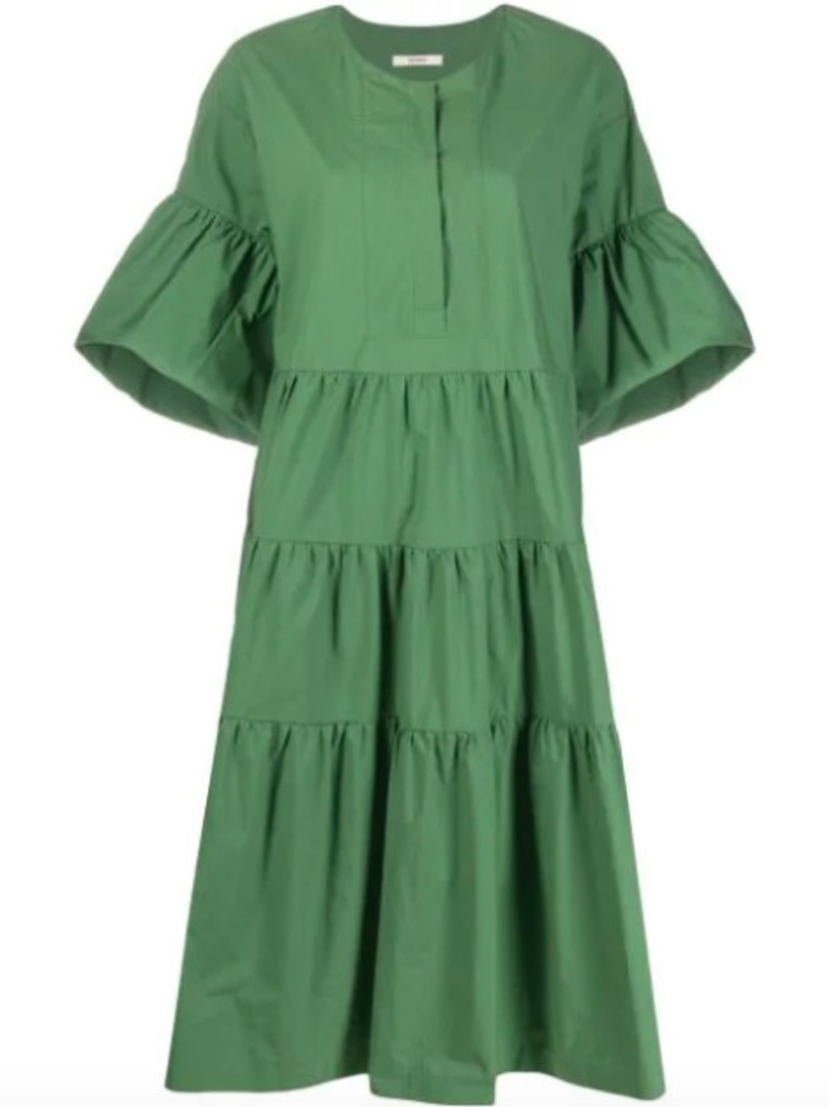 Odeeh Tiered Dress - Palm Green Dresses Sale