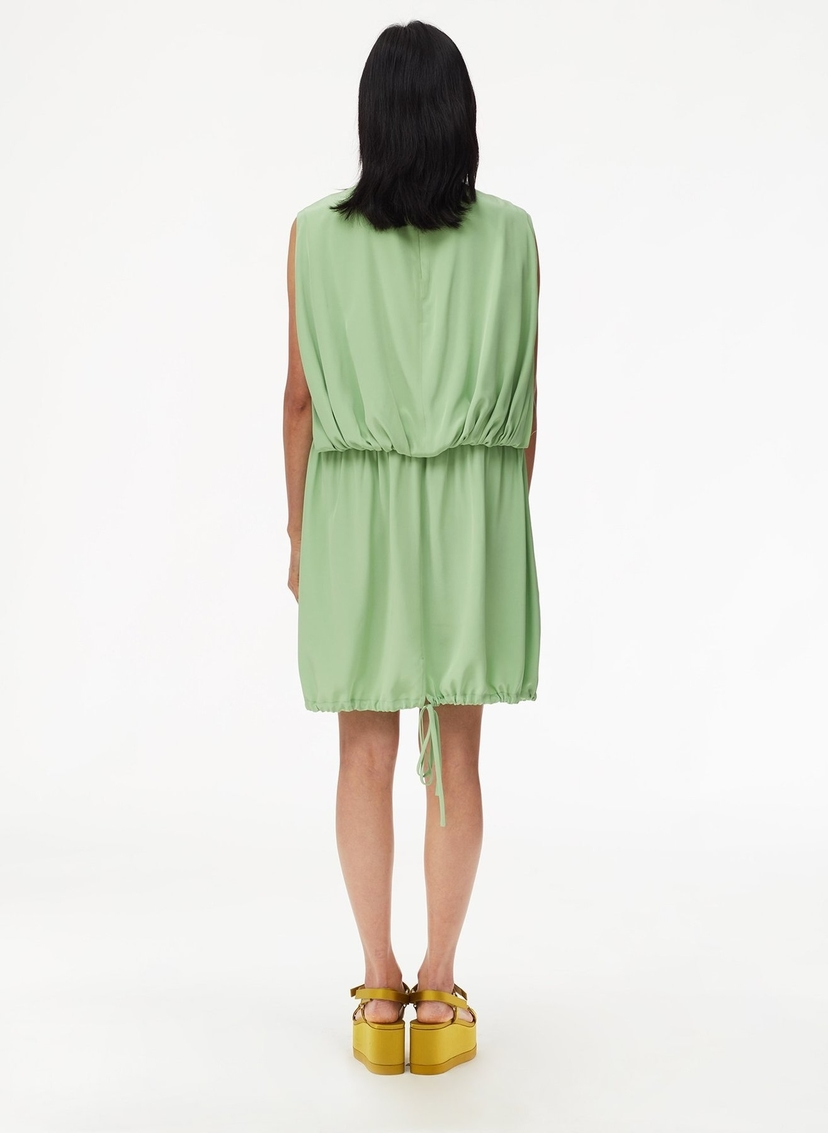 Tibi Eco Silk Short Cape Dress with Removable Belt - Mint Dresses Sale