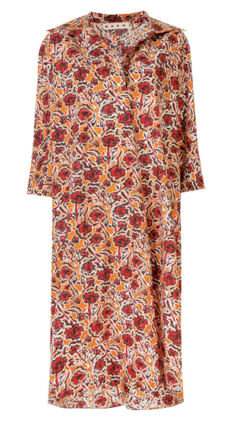Marni COLLARED PRINTED TUNIC DRESS Dresses Sale