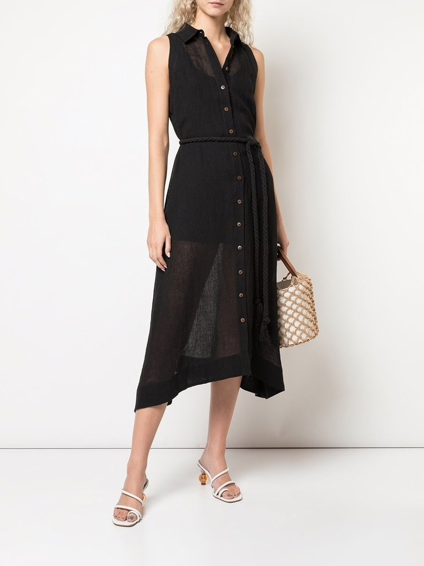 Lisa Marie Fernandez Alison Sleeveless Button Down Dress Dresses Sale
