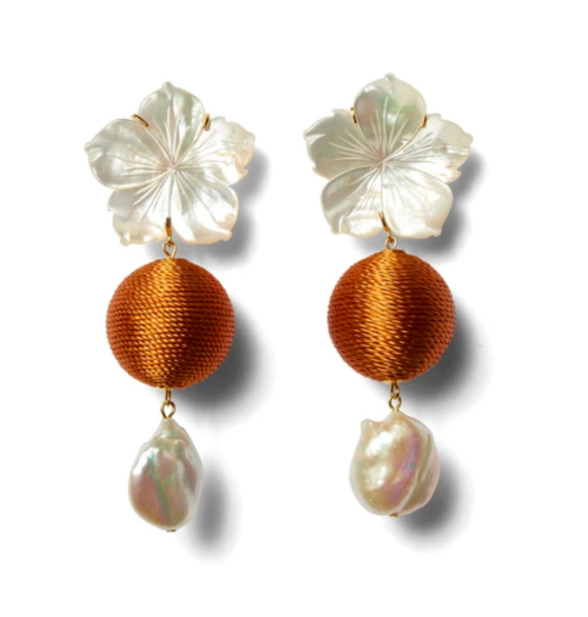 Lizzie Fortunato Lizzie Fortunato Paper White Drop Earrings in Amber Accessories
