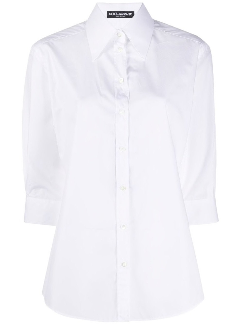 Dolce & Gabbana Cotton Poplin Button Down Shirt Sale Tops