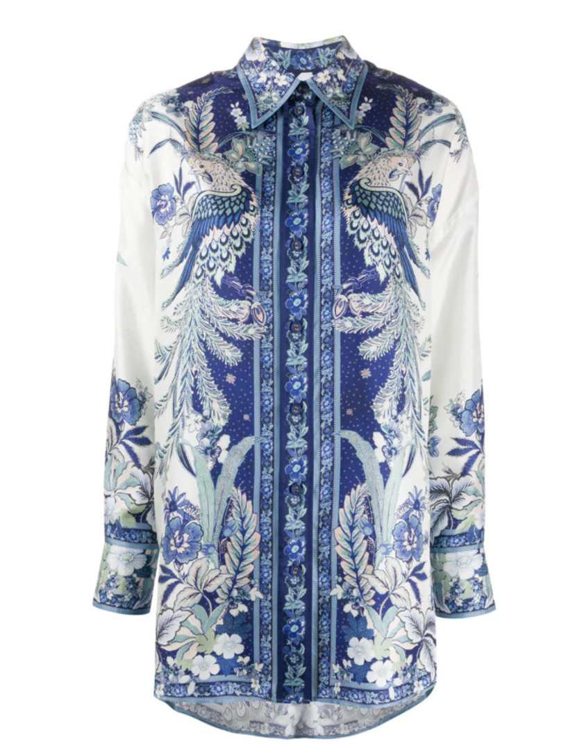 Zimmermann PHOENIX PRINT BUTTON DOWN BLOUSE Tops