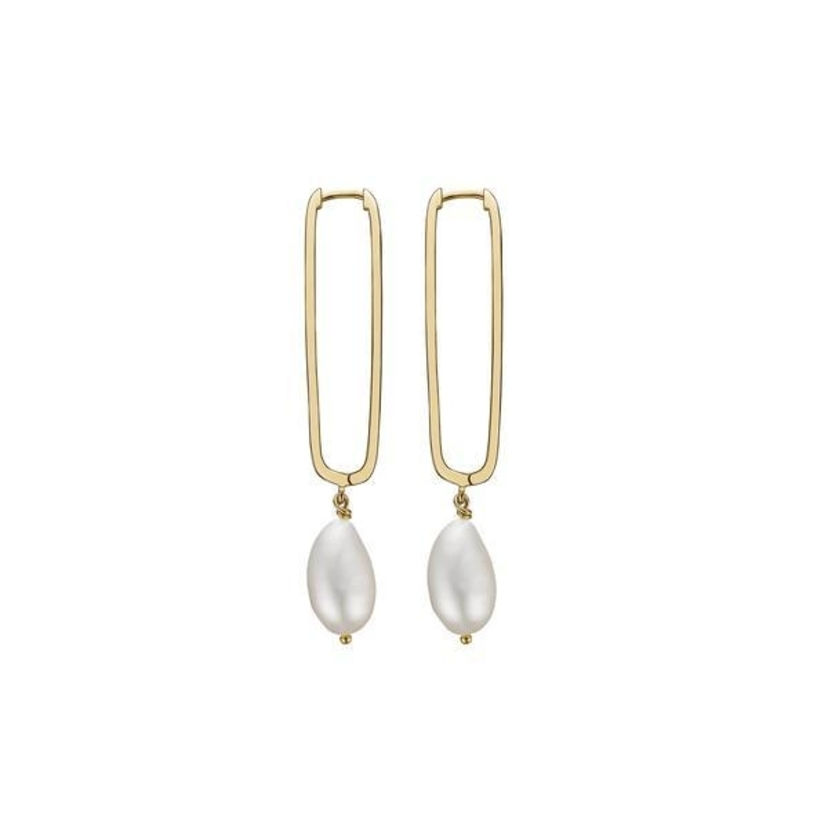 CHARLOTTE LEBECK Aja Pearl Drop Earrings Jewerly