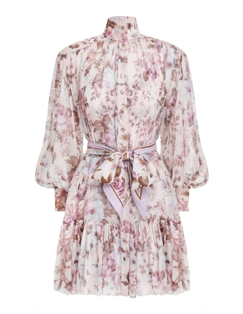 Zimmermann Charm Lantern Mini Dress Dresses Sale