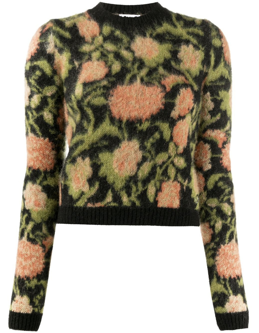 Paco Rabanne CROPPED FLORAL SWEATER Sale