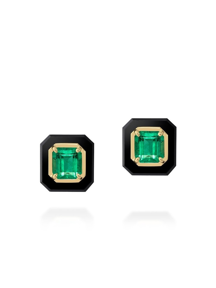 Sauer Frame Emerald Earrings Accessories Jewelry