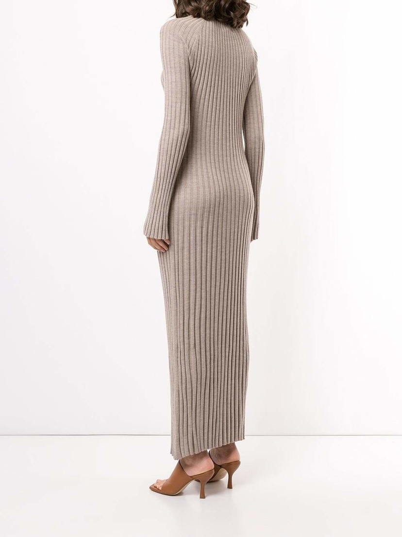 LouLou Studio Long Sleeve Maxi Pleated Knit Dress Dresses