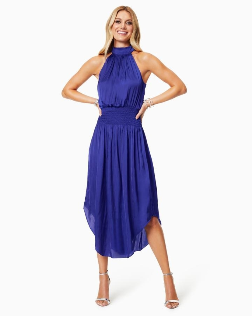 Ramy Brook BELLA HIGH NECK MIDI DRESS Dresses