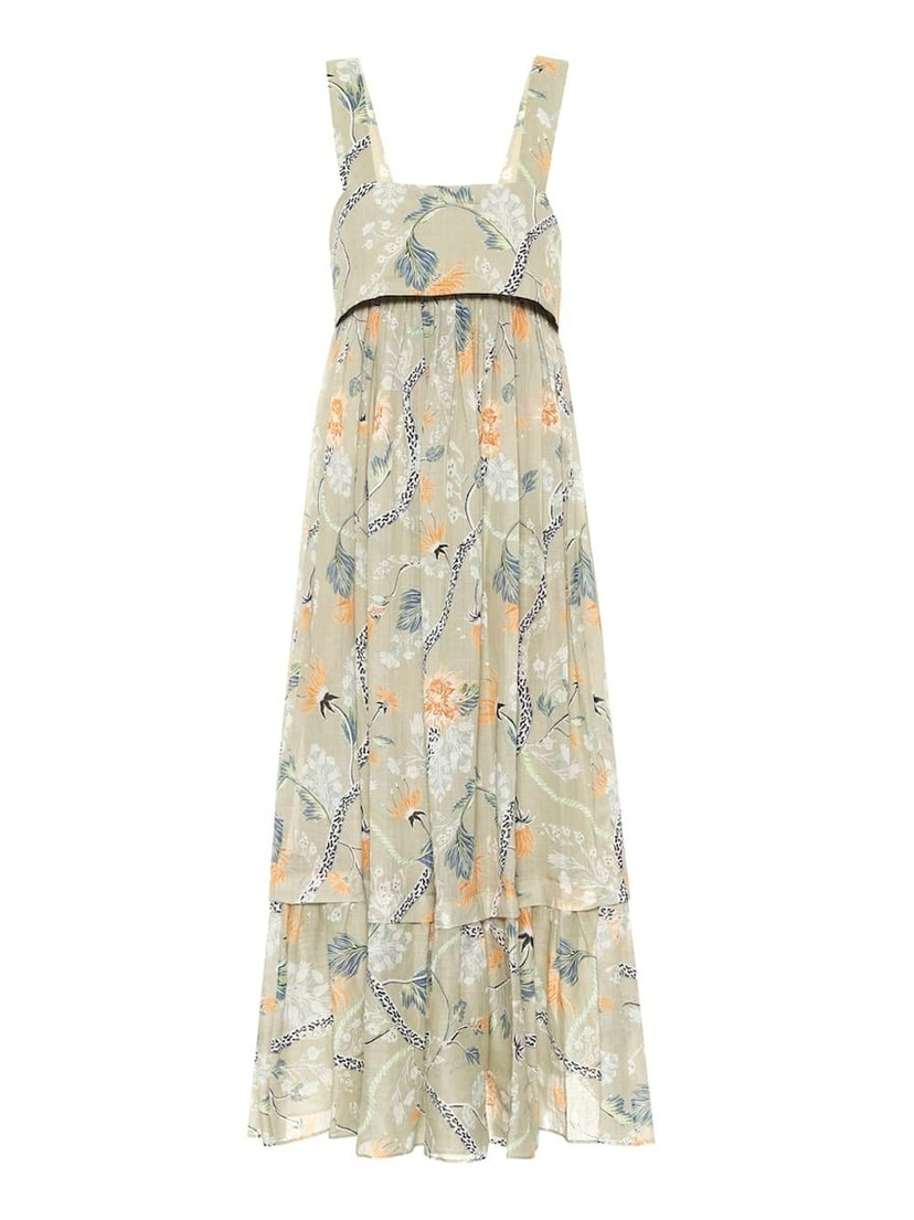 Chloé Thin Strap Low Back Floral Maxi Dress Dresses Sale