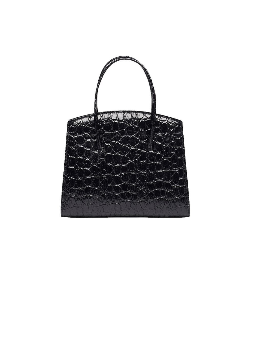 Little Liffner Top Handle Minimal Crocodile Embossed Bag