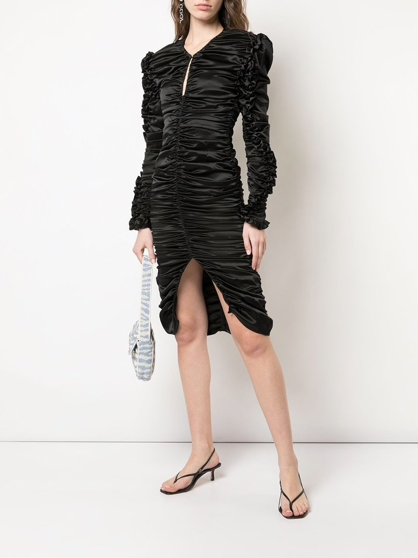 Magda Butrym Pula Ruched Ruffle Dress Dresses Sale