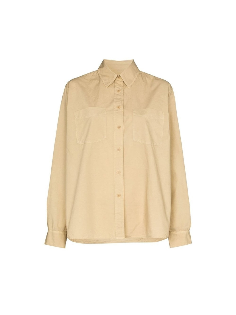 Nili Lotan Kristen Cotton Classic Shirt Tops