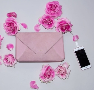 Pink Suede Leather Bags