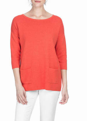 Lilla P Pocket Sweater Tops
