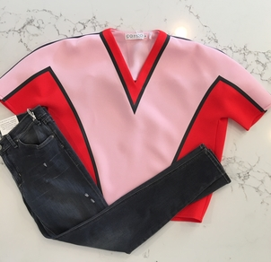 Co+Co by Coco Rocha McGuire Denim Hello Perfect Valentine's Day Outfit Pants Tops
