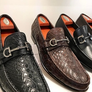 Salvatore Ferragamo Crocodile Friday's Shoes