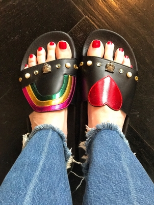 Gucci Rainbows and hearts Shoes