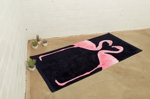 Chaser Watercolor Flamingos Beach Towel Accessories