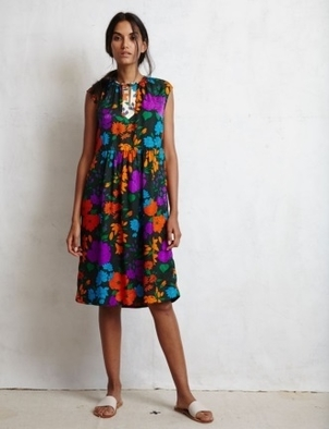 Warm Jungle Rose Dress Dresses
