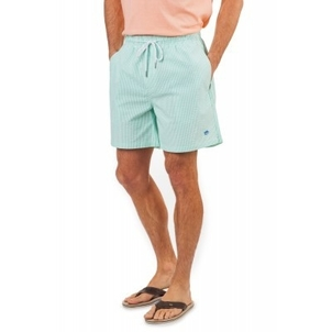 Southern Tide Starboard Green Seersucker Trunk Swimwear