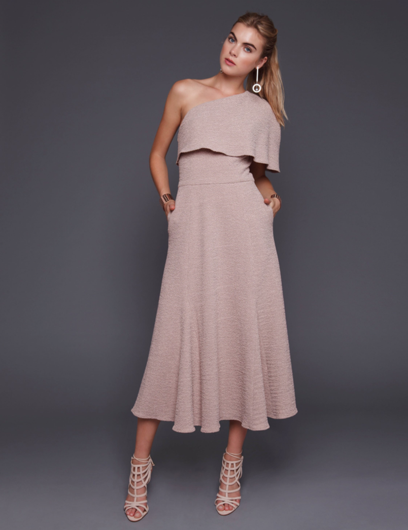Wai Ming Blush Marta One Shoulder Dress Dresses Sale
