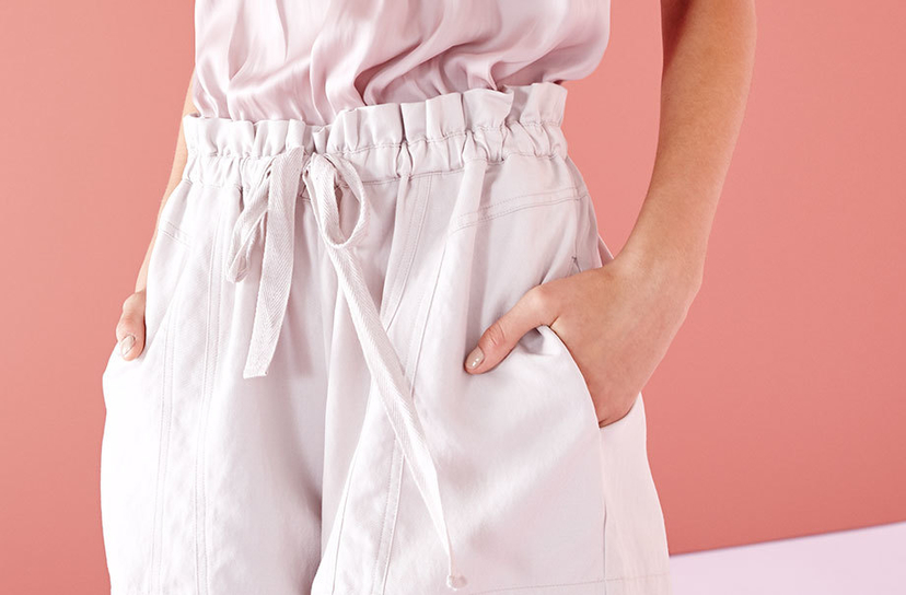 Ulla Johnson Lariat Shorts Lavender Pants