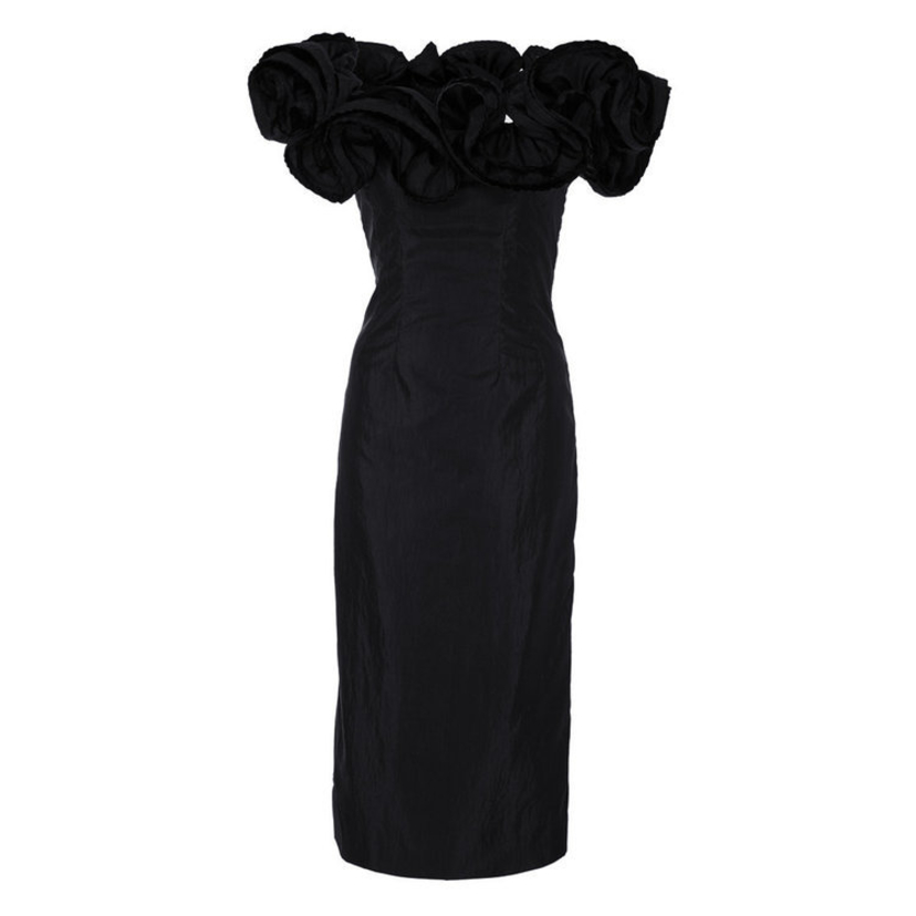 Brock Collection Desiree Black Ruffle Dress Dresses