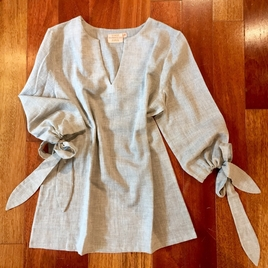 Tied Up Linen Avery Blouse