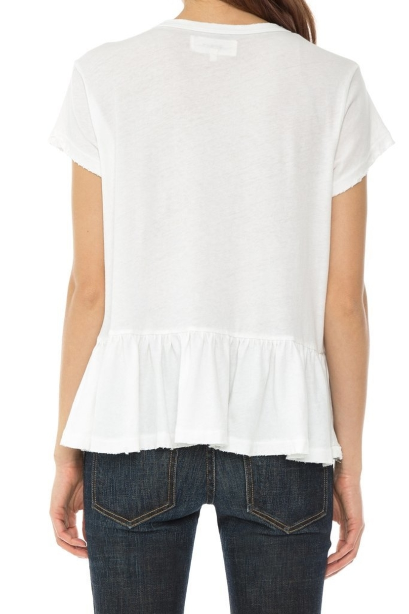 The Great. White Ruffle Tee Tops