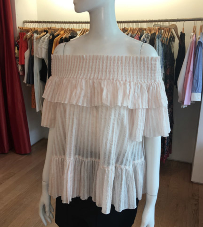Ulla Johnson Kasia Blouse in Rose Tops