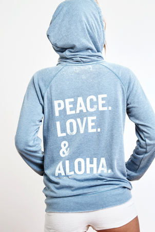 Spiritual Gangster Peace, Love & Aloha Zip Hoodie SOLD OUT Sale Tops