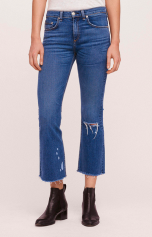 rag & bone Crop Flare Jean Pants