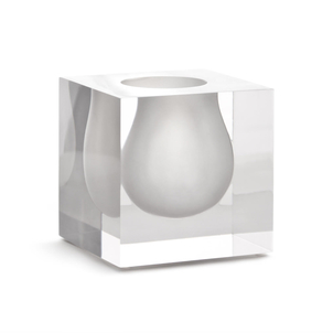 Jonathan Adler Bel Air Mini Scoop Vase in White Home decor